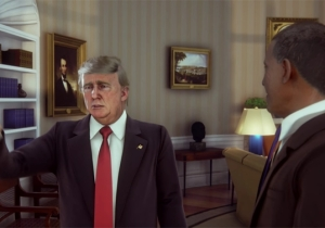 Harry Shearer From 'The Simpsons' Gives Trump And President Obama's Meeting An Animated Makeover