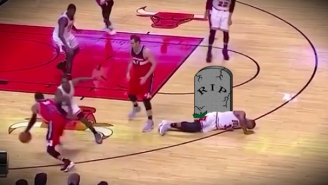 Dwyane Wade Flailed On The Floor After A Flop For The Ages