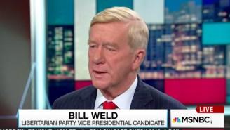 Gary Johnson's Running Mate Bill Weld Lavishes Hillary With Praise: 'I'm Here Vouching For Mrs. Clinton'