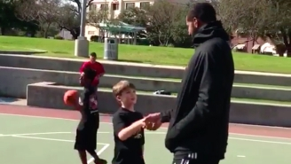 LaMarcus Aldridge Totally Surprised A Young Spurs Fan Playing Pickup In The Park