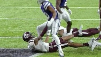 We May Have Witnessed The Only Justified Nut Punch In Sports History During The Texas Bowl