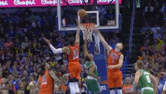 Andre Roberson Swatted Avery Bradley's Layup Attempt Into The Middle Of Next Week