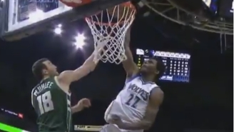 Andrew Wiggins Dropped The Hammer On Miles Plumlee With The One-Handed Smash