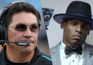 There's Video Of The Moment Ron Rivera Told Cam Newton He Was Benched For His Outfit