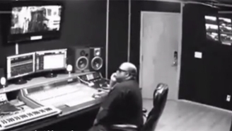 Security Cameras Catch The Exact Moment CeeLo Green's Phone Explodes In His Face