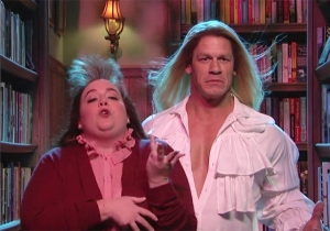 John Cena Does His Best Fabio Impression At A Very Odd Erotic Bookshop On 'SNL'