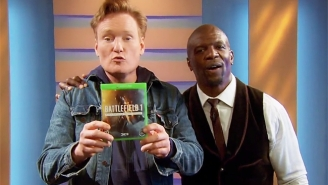 Conan Calls On Terry Crews  To Bring Some Positivity To 'Battlefield 1' On The Latest Clueless Gamer