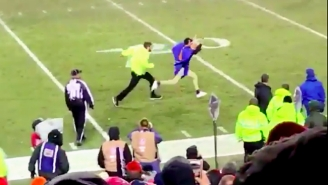 The Crowd Went Nuts When This Security Guard Chased Down And Crushed A Streaker