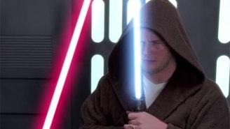 Chris Pratt Battling Darth Vader In A Bathrobe Counts As A Star Wars Audition, Right?