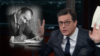 Stephen Colbert Channels Richard Nixon To Write Trump Letters Addressing His Greatest Moments