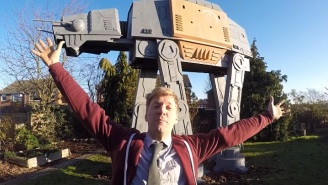 This Dad Built A Giant 'Star Wars' AT-ACT Playhouse