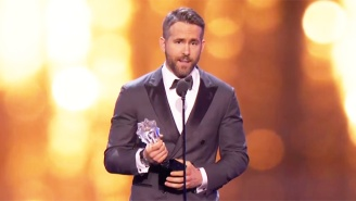 Ryan Reynolds Dedicates His 'Entertainer Of The Year' Honor To Kids Who Fight Cancer