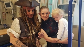 Johnny Depp Made His Annual Visit To A London Children's Hospital Dressed As Jack Sparrow
