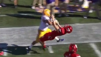 Louisville's Kicker Got Completely Destroyed When He Tried To Tackle LSU's Derrius Guice