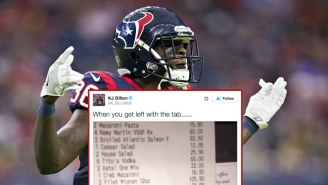 Let's Talk About The Absurdly Huge Restaurant Bill A Texans Rookie Got Stuck Paying