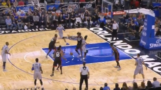 Elfrid Payton Dropped A Beautiful Behind-The-Back Pass To Nikola Vucevic