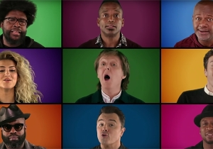 Paul McCartney, Jimmy Fallon, And An All-Star Cast Perform An A Cappella Version Of 'Wonderful Christmastime'