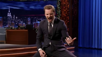 Michael Fassbender Turns Into A Mad Man During An Air Guitar Battle On 'The Tonight Show'