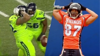 Michael Bennett Channeled Key & Peele With His Hilarious 'Three Pumps' Celebration
