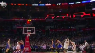 Jamal Crawford Pulled A Steph Curry And Didn't Even Wait To See If This Rainbow Three Went In