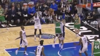 Jaylen Brown Just Obliterated Nikola Vucevic With This Monster Poster Jam