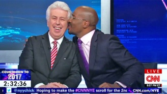 Van Jones And Jeffrey Lord Put Their Differences Aside With A New Year's Eve Kiss
