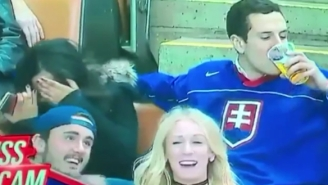 This Hockey Fan Loves His Beer More Than His Girlfriend