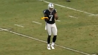 Raiders Punter Marquette King Celebrated A Penalty By Dancing With A Referee's Flag