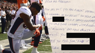 Brandon Marshall Received A Disgustingly Racist And Threatening Letter