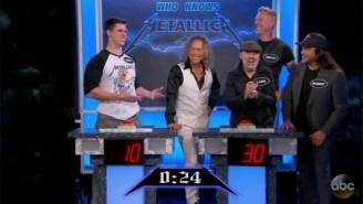 Metallica Proceeds To School This Fan In Metallica Trivia On 'Jimmy Kimmel Live'