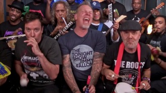 Metallica Admit They Were Nervous Before Their 'Enter Sandman' Toy Jam On 'Fallon'