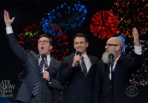 Michael Stipe And James Franco Help Stephen Colbert End The Year With An R.E.M. Classic