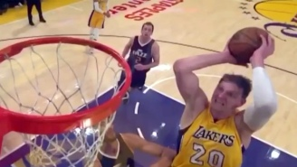 Timofey Mozgov Missed His Chance To Jam On Rudy Gobert Due To This Bricked Dunk