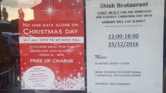 A Muslim-Owned Restaurant Is Giving Away Christmas Dinners To The Homeless