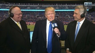Donald Trump Took A Shot At The Quality Of Play During An Army-Navy Game Appearance