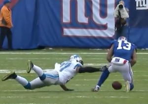 The Refs Inexplicably Said Odell Beckham Caught A Pass That Bounced Off Of The Ground
