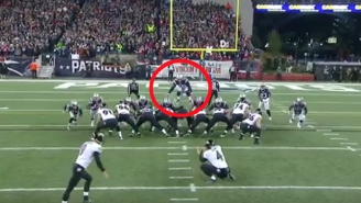 A Patriots Player Spectacularly Jumped Over The Ravens' Line To Block A Field Goal