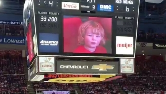 Red Wings Fans Cared A Lot More About This Adorable Laughing Child Than The Hockey Game They Were At