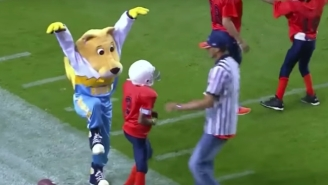 Mascots And Pee Wee Football Players Make The Greatest Sports Highlights On The Planet