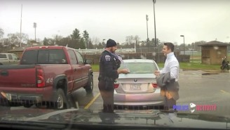 The Most Chill Police Officer Pulls Over A Speeding Student And Then Helps Him Tie His Tie