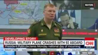 A Plane Flying From Russia To Syria Crashes In The Black Sea, Reportedly Killing All 92 On Board