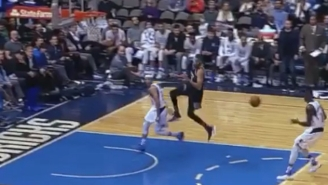 Seth Curry Threw A Nifty Behind-The-Back Assist Against His Former Team
