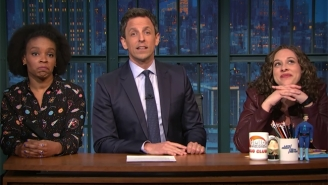 Seth Meyers Takes Another Shot At Highlighting Some Jokes He Can't Say During His Monologue
