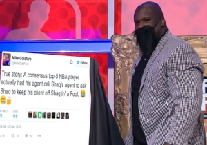 A 'Consensus Top 5′ NBA Player Reportedly Had His Agent Ask Shaq To Keep Him Off Shaqtin' A Fool