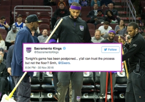 The Kings Twitter Account Went On A Sixers Trolling Spree Over Their Court's Moisture Issues
