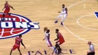 Reggie Jackson Didn't Need To Look To Find Andre Drummond With A Gorgeous Overhead Pass