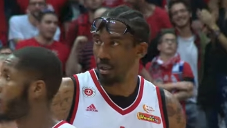 Amar'e Stoudemire Retaliated A Hard Foul By Absolutely Clobbering One Of His Opponents In Israel