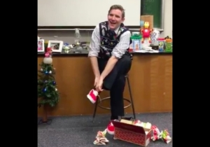 This Teacher's Reaction To Some Fresh Sneaks Is A Little Slice Of Holiday Joy