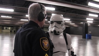 Texas Police Tried To Teach A Stormtrooper How To Actually Shoot Targets