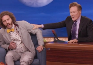 T.J. Miller Shoved A Safety Pin Through His Ear To Show Solidarity On 'Conan'
